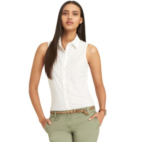 Image for EYELET SHIRT from Tommy Hilfiger USA
