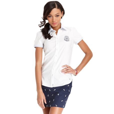 Image for SHORT SLEEVE SHIRT WITH PATCH from Tommy Hilfiger USA