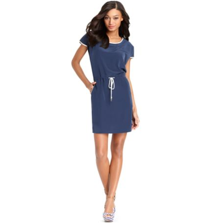 Image for SILK BLOUSON DRESS from Tommy Hilfiger USA