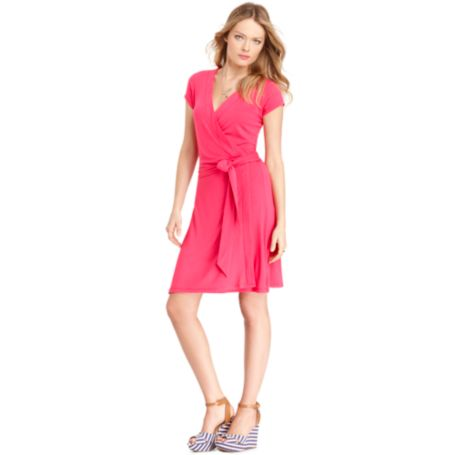 Image for SHORT SLEEVE WRAP DRESS from Tommy Hilfiger USA