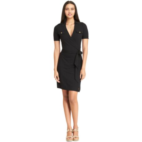 Image for 3/4 SLEEVE WRAP DRESS from Tommy Hilfiger USA