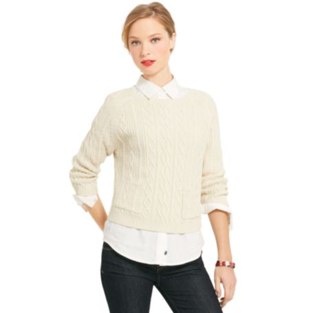 Image for CABLEKNIT PULLOVER SWEATER from Tommy Hilfiger USA