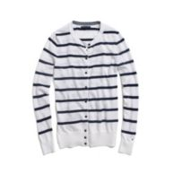 STRIPE CREW NECK CARDIGAN $49.99