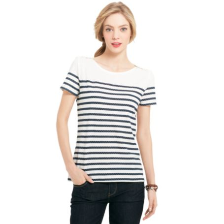 Image for DOT STRIPE TEE from Tommy Hilfiger USA