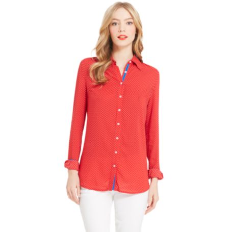 Image for DOT PRINT BLOUSE from Tommy Hilfiger USA