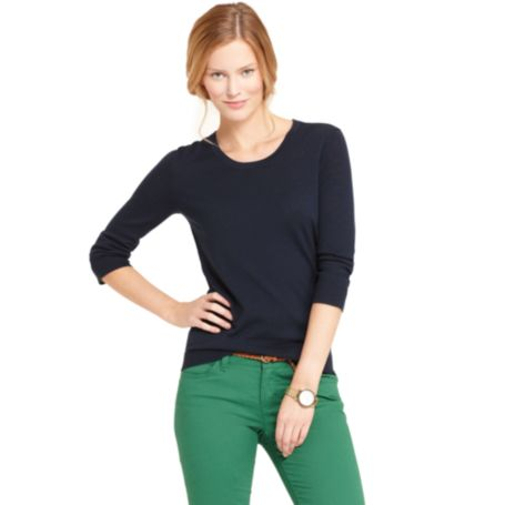 Image for SOLID MERINO WOOL SWEATER from Tommy Hilfiger USA