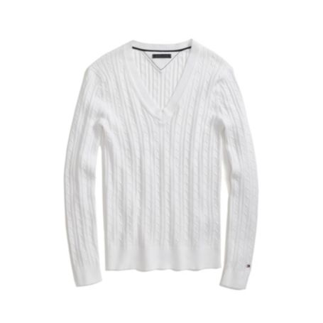 Image for SOLID CABLEKNIT SWEATER from Tommy Hilfiger USA