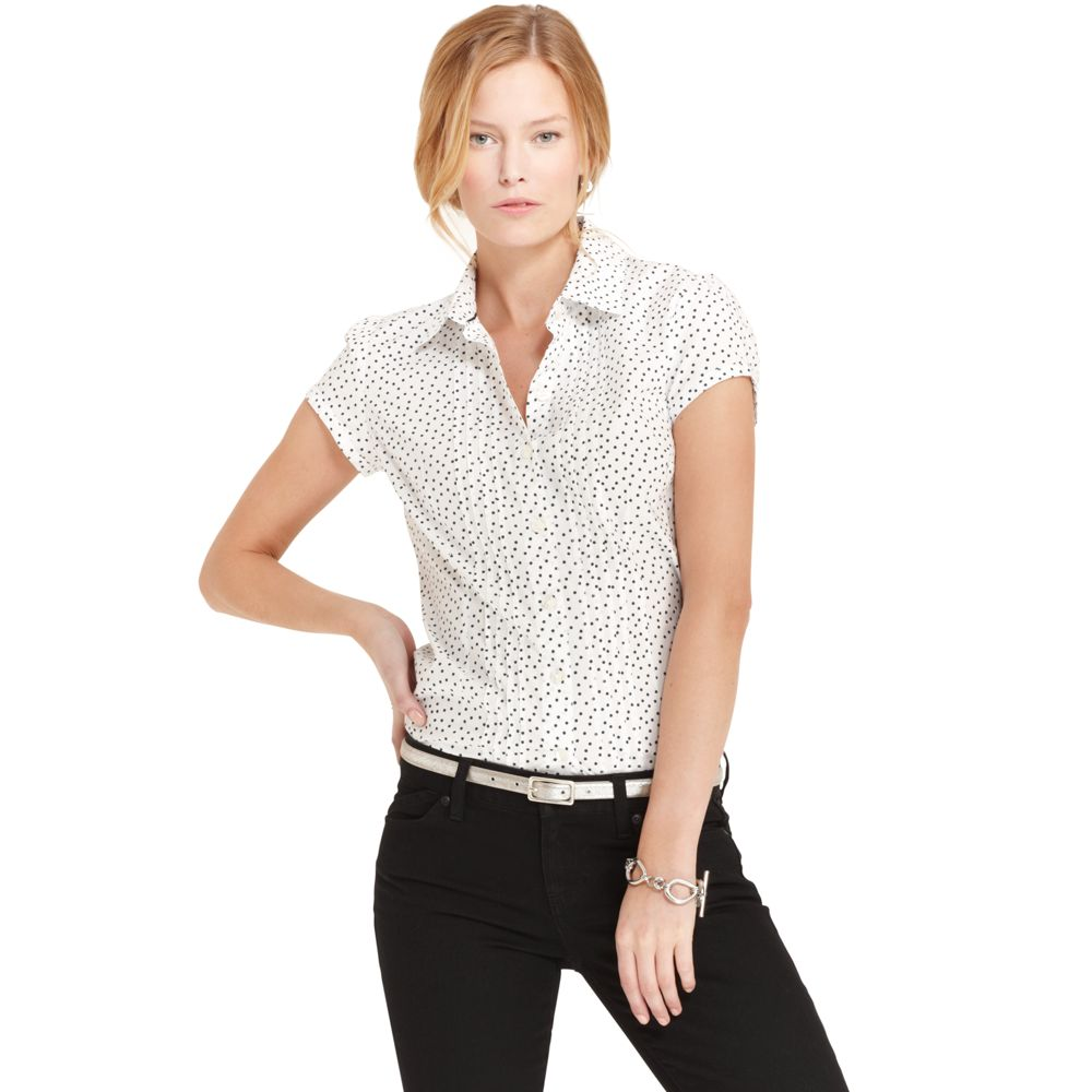 Image for SHORT SLEEVE DOT SHIRT from Tommy Hilfiger USA