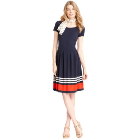 Image for PONTE SHORT SLEEVE DRESS from Tommy Hilfiger USA