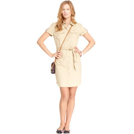 Image for SHORT SLEEVE SHIRT DRESS from Tommy Hilfiger USA