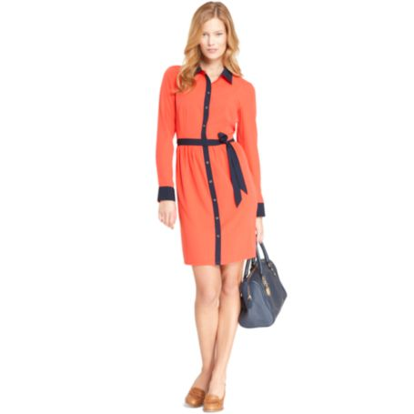 Image for TIPPED SHIRT DRESS from Tommy Hilfiger USA