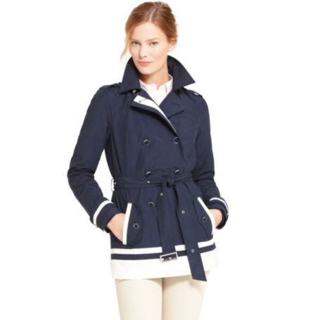Image for CONTRAST BANDED TRENCH from Tommy Hilfiger USA