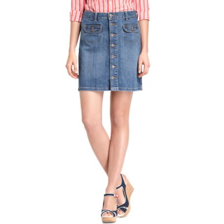 Image for BUTTON FRONT SKIRT from Tommy Hilfiger USA