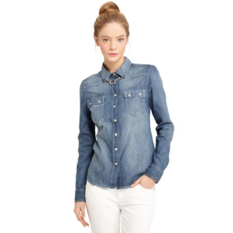 Image for DENIM WESTERN SHIRT from Tommy Hilfiger USA