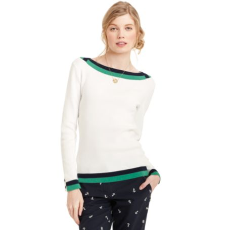 Image for BOAT NECK TIPPED SWEATER from Tommy Hilfiger USA