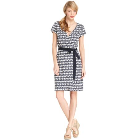 Image for PRINTED FAUX WRAP DRESS from Tommy Hilfiger USA