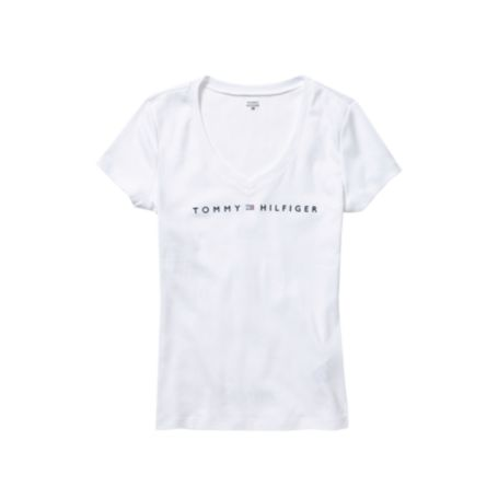 Image for SIGNATURE SHORT SLEEVE V-NECK TEE from Tommy Hilfiger USA