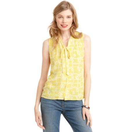 Image for TIE NECK BLOUSE from Tommy Hilfiger USA