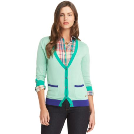 Image for TIPPED DEEP V CARDIGAN from Tommy Hilfiger USA