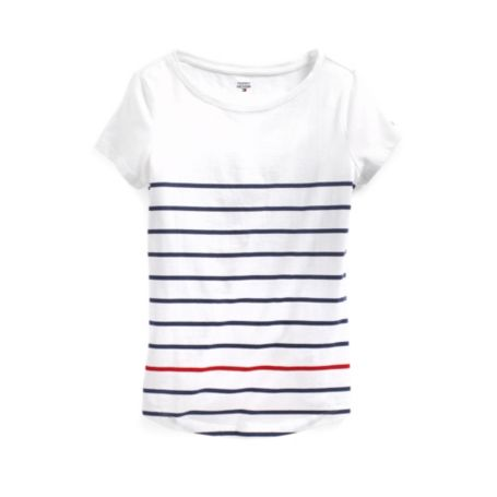 Image for STRIPE SCOOPNECK TEE from Tommy Hilfiger USA