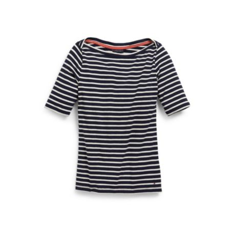 Image for STRIPE BATEAU KNIT TOP from Tommy Hilfiger USA