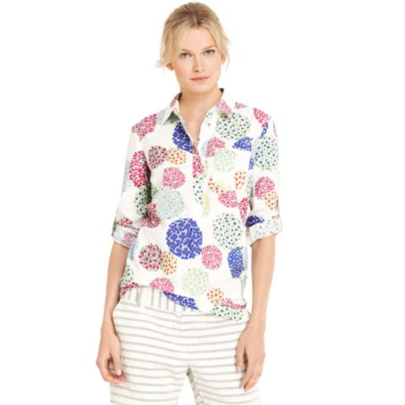 Image for FLORAL ROLL TAB TUNIC from Tommy Hilfiger USA