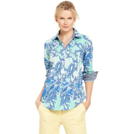 Image for PAISLEY ROLL TAB TUNIC from Tommy Hilfiger USA