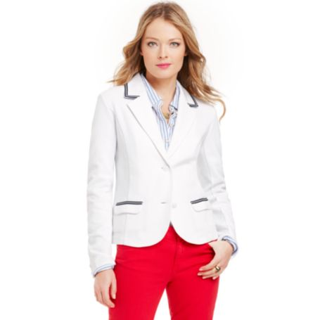 Image for KNIT SOLID BLAZER from Tommy Hilfiger USA