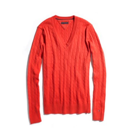 Image for SOLID CABLE KNIT SWEATER from Tommy Hilfiger USA