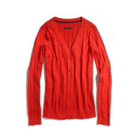 Image for SOLID CABLE CARDIGAN from Tommy Hilfiger USA