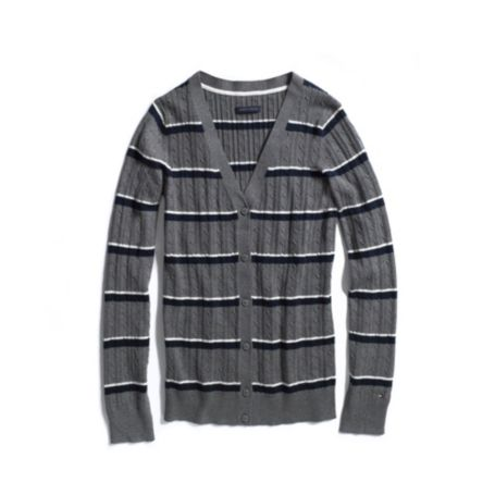 Image for STRIPE CABLE CARDIGAN from Tommy Hilfiger USA
