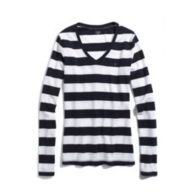 LONG SLEEVE RUGBY STRIPE FAVORITE TEE $9.97