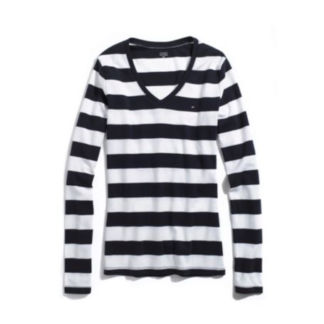 Image for LONG SLEEVE RUGBY STRIPE FAVORITE TEE from Tommy Hilfiger USA