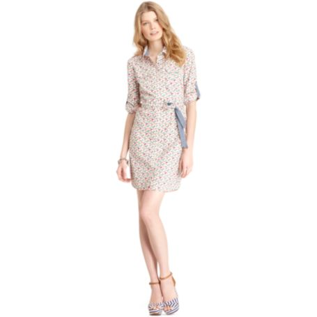 Image for ROLL TAB SHIRT DRESS - FLORAL from Tommy Hilfiger USA