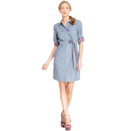 Image for ROLL TAB SHIRT DRESS from Tommy Hilfiger USA