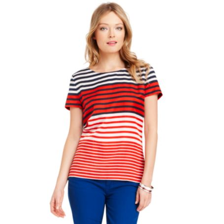 Image for STRIPE KNIT TOP from Tommy Hilfiger USA