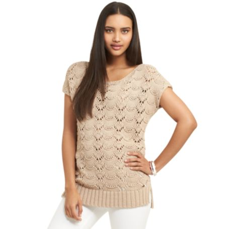 Image for OPEN KNIT BATWING SWEATER from Tommy Hilfiger USA