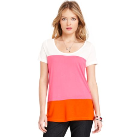 Image for COLORBLOCK KNIT TOP from Tommy Hilfiger USA