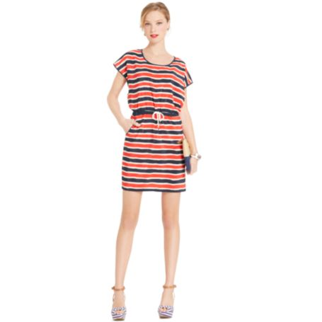 Image for BLOUSON STRIPE DRESS from Tommy Hilfiger USA