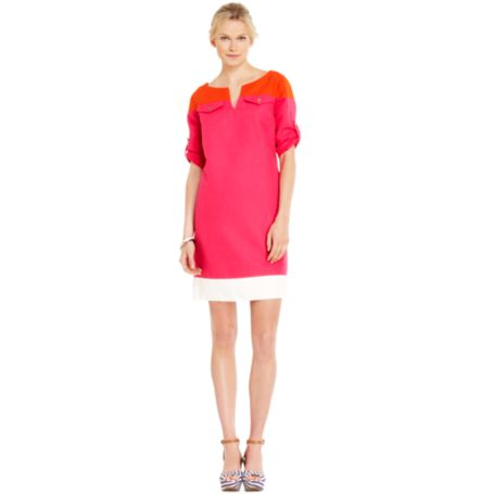 Image for ROLL TAB COLORBLOCK DRESS from Tommy Hilfiger USA