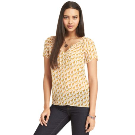Image for GIRAFFE PRINT BLOUSE from Tommy Hilfiger USA