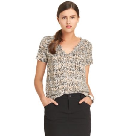 Image for SHORT SLEEVE DOT PRINT BLOUSE from Tommy Hilfiger USA