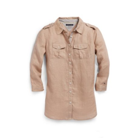Image for 3/4 SLEEVE LINEN CAMP SHIRT from Tommy Hilfiger USA