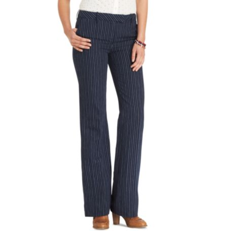 Image for WIDE LEG STRIPED PANT from Tommy Hilfiger USA