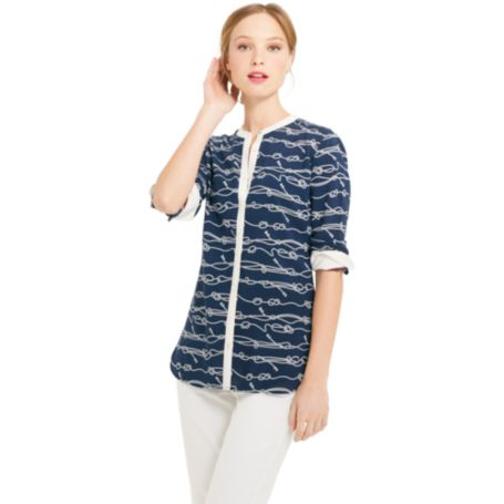 Image for ROPE PRINT BLOUSE from Tommy Hilfiger USA