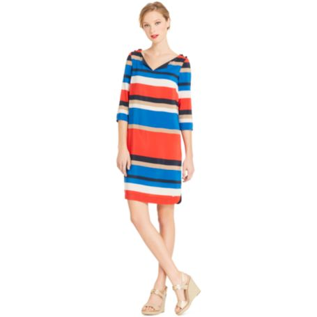 Image for 3/4 STRIPE TUNIC DRESS from Tommy Hilfiger USA