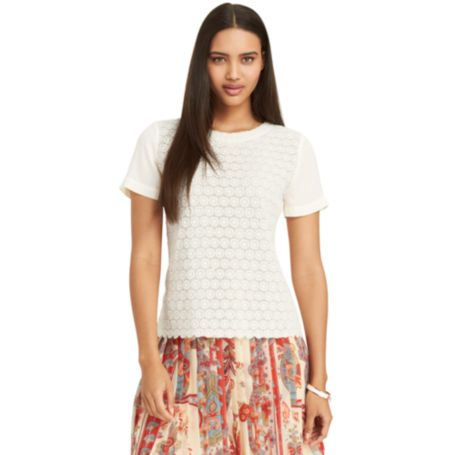 Image for CROCHET FRONT TOP from Tommy Hilfiger USA