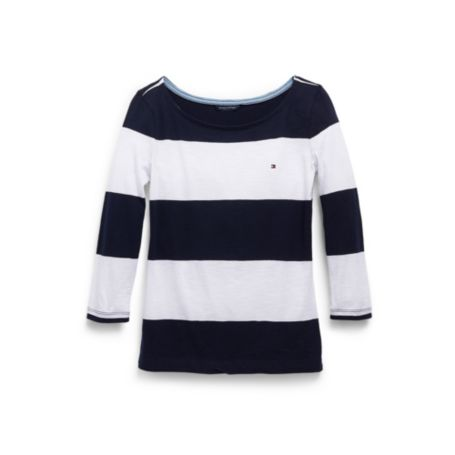 Image for TEXTURED STRIPE BATEAU from Tommy Hilfiger USA