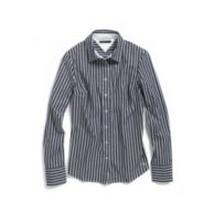 LONG SLEEV STRIPE STRECTH SHIRT $58.00