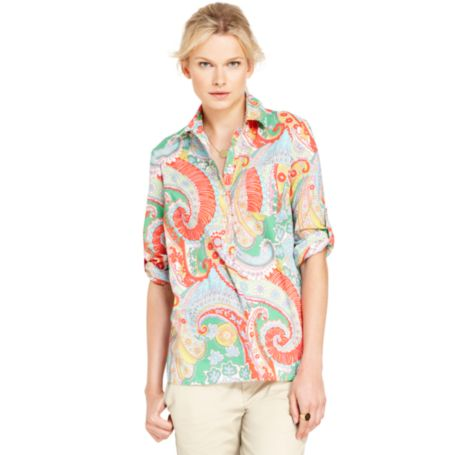 Image for PAISLEY POPLIN SHIRT from Tommy Hilfiger USA